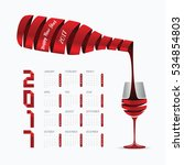 2017 calendar happy new year... | Shutterstock .eps vector #534854803