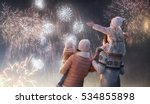 new year holiday. happy family  ... | Shutterstock . vector #534855898