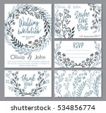 vector wedding collection.... | Shutterstock .eps vector #534856774
