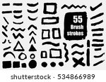 vector set of 55 different... | Shutterstock .eps vector #534866989