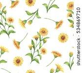 watercolor seamless pattern... | Shutterstock . vector #534869710