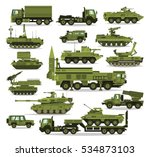 big set of military equipment.... | Shutterstock .eps vector #534873103