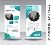 blue business roll up banner...   Shutterstock .eps vector #534875119