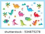 Cute Dinosaur Vector Collection