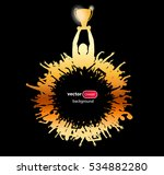 posters with champion and... | Shutterstock .eps vector #534882280
