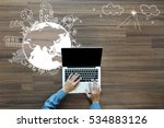 ecology concept  creative... | Shutterstock . vector #534883126