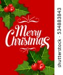merry christmas greeting card... | Shutterstock . vector #534883843