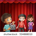 kids acting at cinema | Shutterstock .eps vector #534888010
