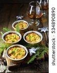 christmas appetizer baked... | Shutterstock . vector #534890890