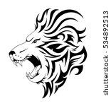 lion tattoo design. head tattoo ... | Shutterstock .eps vector #534892513