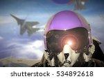 Jet Fighter Pilot Cockpit View...