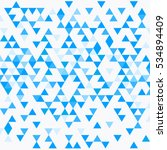 abstract triangle blue... | Shutterstock .eps vector #534894409