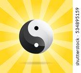 yin yang spiritual sign on... | Shutterstock .eps vector #534895159