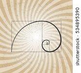 golden proportion  ratio ... | Shutterstock .eps vector #534895390