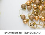 golden glitter christmas ball... | Shutterstock . vector #534905140