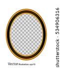 gold frame circle. vector... | Shutterstock .eps vector #534906316