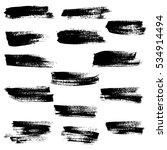 black ink vector brush strokes. ... | Shutterstock .eps vector #534914494