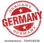 germany stamp | Shutterstock .eps vector #534918538