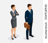 isometric people  a woman and a ... | Shutterstock .eps vector #534918940