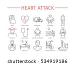 heart attack. symptoms ... | Shutterstock .eps vector #534919186