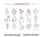 laryngitis. symptoms  treatment.... | Shutterstock .eps vector #534919234