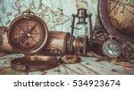 antique pirate rare items... | Shutterstock . vector #534923674