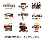 cinema vector symbols and retro ... | Shutterstock .eps vector #534932548