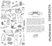 hand drawn doodle handmade... | Shutterstock .eps vector #534939574