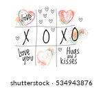 abstract tic tac toe with... | Shutterstock .eps vector #534943876