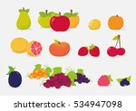 set of fruits | Shutterstock .eps vector #534947098