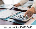 women accountant or banker... | Shutterstock . vector #534956443