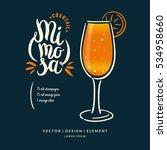 modern hand drawn lettering... | Shutterstock .eps vector #534958660