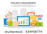 project management business... | Shutterstock .eps vector #534958774