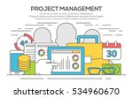 project management business... | Shutterstock .eps vector #534960670