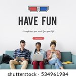 3d glasses icon entertainment... | Shutterstock . vector #534961984