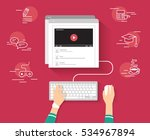 video tutorial streaming... | Shutterstock .eps vector #534967894