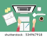 human female hands typing on... | Shutterstock .eps vector #534967918