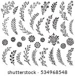 big set of hand drawn vector... | Shutterstock .eps vector #534968548