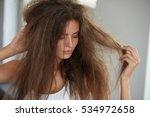 Damaged Hair. Beautiful Sad...
