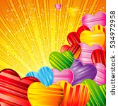 valentine's day background with ... | Shutterstock . vector #534972958