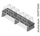 Steel Railway Bridge Isometric...