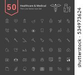 healthcare and medical icon set.... | Shutterstock .eps vector #534973624