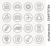 school thin line icon set | Shutterstock .eps vector #534975784