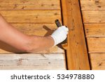 painter staining deck boards... | Shutterstock . vector #534978880
