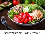 healthy salad plate with quinoa ...   Shutterstock . vector #534979474