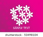 magenta dotted background with... | Shutterstock .eps vector #53498104
