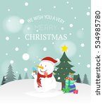 merry christmas and happy new... | Shutterstock .eps vector #534985780