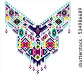 textile design for collar... | Shutterstock .eps vector #534986689