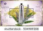 salvia cream ad  with salvia... | Shutterstock .eps vector #534989308