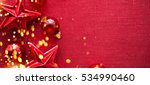 christmas background with red... | Shutterstock . vector #534990460